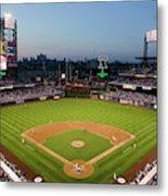 Panoramic View Of 29,183 Baseball Fans 4 Metal Print