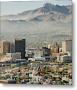 Panoramic View Of Skyline And Downtown Metal Print