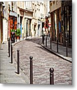 Paris Street Metal Print by Elena Elisseeva