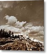 Pemaquid Point Lighthouse Metal Print by Skip Willits