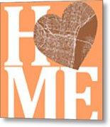 Philadelphia Street Map Home Heart - Philadelphia Pennsylvania R Metal Print
