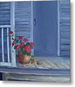 Porch Flowers Metal Print by Glenda Barrett