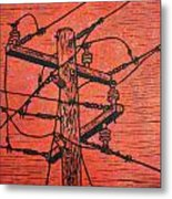 Power Lines Metal Print