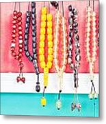 Prayer Beads Metal Print