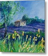 Provence Lavender Field Metal Print