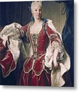 Ranc, Jean 1674-1735. Portrait Metal Print