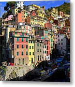 Riomaggiore Metal Print by Barbara Walsh