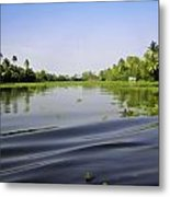 Ripples On The Saltwater Lagoon Metal Print