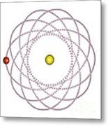 Rosetta Orbit Around Black Hole, Artwork Metal Print