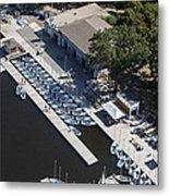 Sailing Boats In Charles River, Boston Metal Print