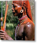 Samburu Warrior Metal Print