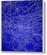 San Jose Street Map - San Jose Costa Rica Road Map Art On Colore Metal Print