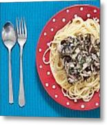 Sardines And Spaghetti Metal Print