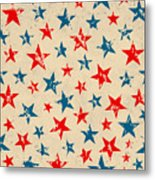 Seamless Pattern For 4th Of July Metal Print