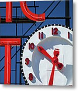 Seattle Market Sign Metal Print by Brian Jannsen