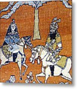 Shahnameh Ferdowsi Rostam And Sohrab Photos Of Persian Antique Rugs Kilims Carpets  Metal Print