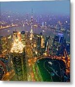 Shanghai Pudong Skyline Metal Print
