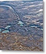 Sinkholes In Northern Dead Sea Area Metal Print by Ofir Ben Tov