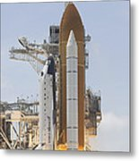 Space Shuttle Atlantis Twin Solid Metal Print