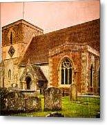 St Marys Church Kintbury Metal Print