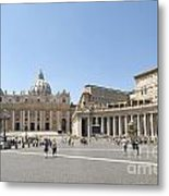 St Peter's Square. Vatican City. Rome. Lazio. Italy. Europe  Metal Print
