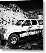 State Park Ranger Vehicles At The Valley Of Fire State Park Nevada Usa Metal Print