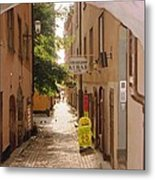 Stockholm City Old Town Metal Print