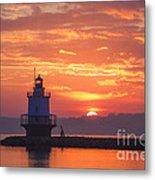 Sunrise At Spring Point Lighthouse Metal Print