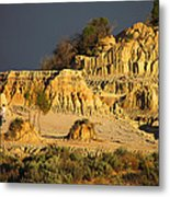 Sunset In An Ancient Land Metal Print