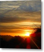 Sunset In Golden Valley Metal Print