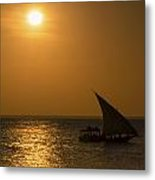 Sunset In Zanzibar - Kendwa Beach Metal Print