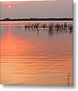 Sunset  River Panorama Metal Print by Vitaliy Gladkiy
