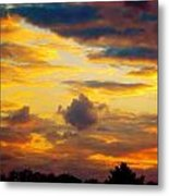 Sunset Sky By Artist Nature Metal Print