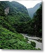 Taiwan Tropical Mountainscape Metal Print