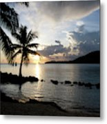 The Beach Of White Sand With Views Metal Print