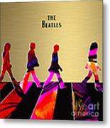 The Beatles Gold Series Metal Print