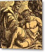 The Good Samaritan Metal Print by English School