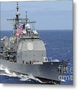 The Guided-missile Cruiser Uss Metal Print