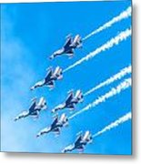 Thunderbirds And Blue Sky  Metal Print