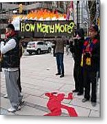 Tibetan Protest March Metal Print