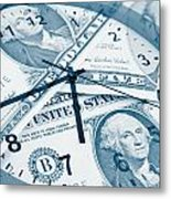 Time Is Money Concept Metal Print