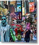 Times Square On A Tuesday Metal Print