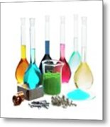 Transition Elements And Their Salts Metal Print