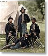 4 Union Officers Of The 4th Pennsylvania Cavalry Metal Print