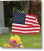 Us Flag On Memorial Day Metal Print