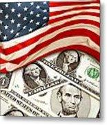 Usa Finance Metal Print