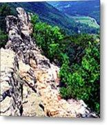 View From Atop Seneca Rocks Metal Print by Thomas R Fletcher