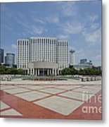 View From Peoples Park, Shanghai Metal Print