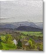 View Of Wallace Monument And Surrounding Areas Metal Print