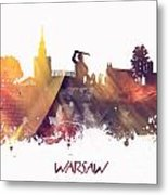 Warsaw City Skyline Metal Print